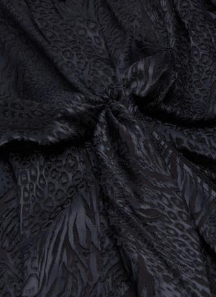 - PETAR PETROV - 'Beryl' bow drape front leopard burnout blouse
