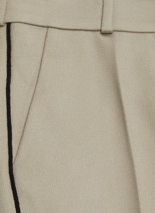 - PETAR PETROV - 'Havre' contrast outseam virgin wool flared pants