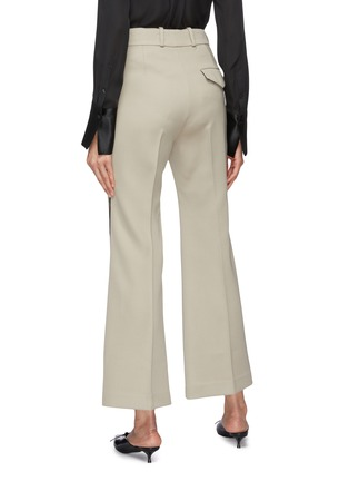 Back View - Click To Enlarge - PETAR PETROV - 'Havre' contrast outseam virgin wool flared pants