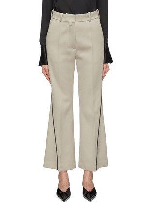 Main View - Click To Enlarge - PETAR PETROV - 'Havre' contrast outseam virgin wool flared pants