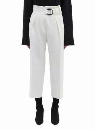 Main View - Click To Enlarge - PETAR PETROV - 'Hayes' ring buckled virgin wool-silk pants