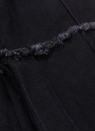 - ROKH - Layered flared extra long sleeve denim jacket