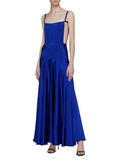 Maison Margiela Cutout side hammered satin gown