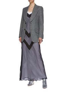 Maison Margiela Chevron stripe layered dress