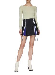 Maison Margiela Extended zip gusset mini skirt