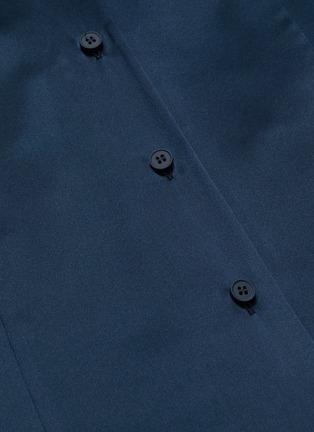 05ae33744e0ac Maison Margiela - Chantilly lace camisole panel off-shoulder silk satin  shirt