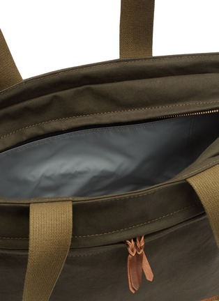 Detail View - Click To Enlarge - TRUNK - x PORTER canvas zip tote bag