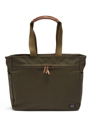 Main View - Click To Enlarge - TRUNK - x PORTER canvas zip tote bag