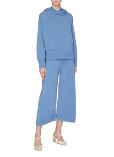 Rosetta Getty Oversized wool-cashmere knit cropped hoodie