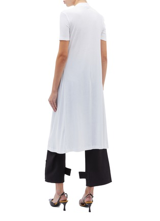 Back View - Click To Enlarge - ROSETTA GETTY - T-shirt panel split front drape top