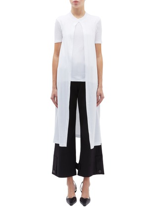 Main View - Click To Enlarge - ROSETTA GETTY - T-shirt panel split front drape top