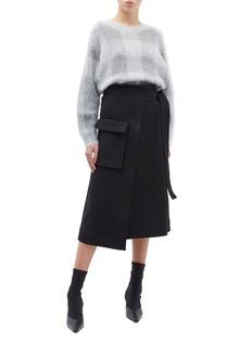Rosetta Getty Patch pocket wrap skirt