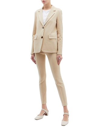 Figure View - Click To Enlarge - ROSETTA GETTY - Slim fit pintucked pants
