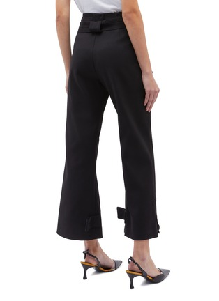Back View - Click To Enlarge - ROSETTA GETTY - Belted button flared cuff pants