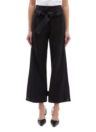 Main View - Click To Enlarge - ROSETTA GETTY - Belted button flared cuff pants