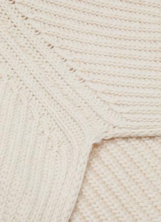 - ROSETTA GETTY - Open back wool-cashmere rib knit turtleneck sweater