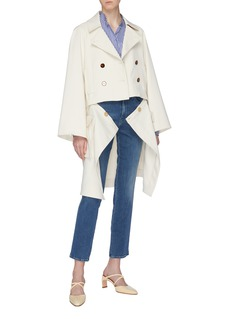 Rosetta Getty Detachable patch pocket hem double breasted peacoat