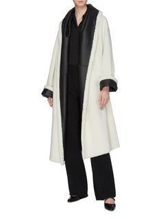 Rosetta Getty Reversible belted Merino shearling robe coat