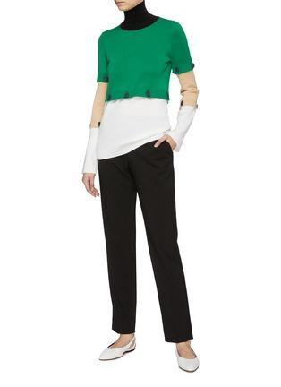 Figure View - Click To Enlarge - ROSETTA GETTY - Detachable colourblock panel turtleneck sweater