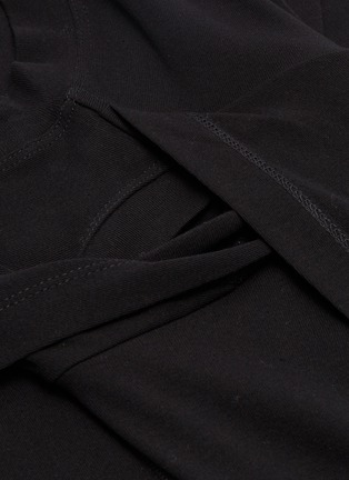 - ROSETTA GETTY - Cross drape long sleeveless top