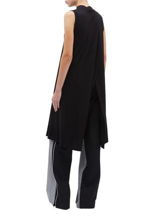 Back View - Click To Enlarge - ROSETTA GETTY - Cross drape long sleeveless top