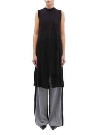 Main View - Click To Enlarge - ROSETTA GETTY - Cross drape long sleeveless top