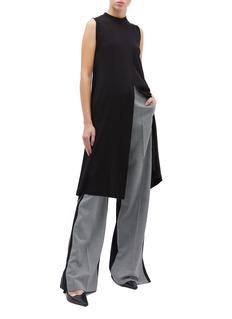 Rosetta Getty Cross drape long sleeveless top