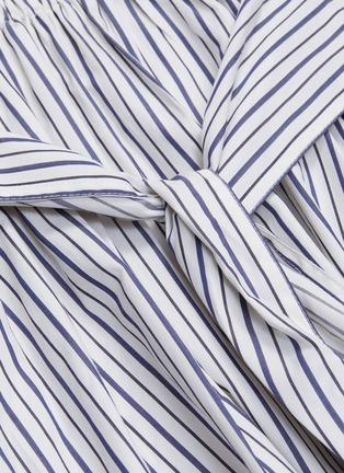 - ROSETTA GETTY - Sash tie waist stripe poplin skirt