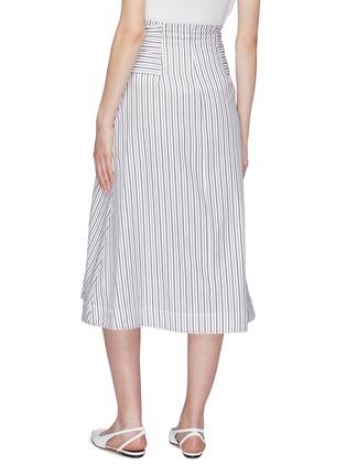 Back View - Click To Enlarge - ROSETTA GETTY - Sash tie waist stripe poplin skirt