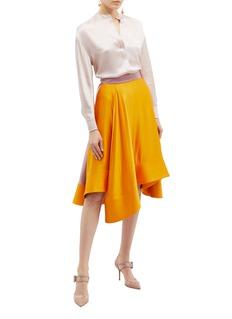 Roksanda 'Coleta' drape colourblock silk satin skirt