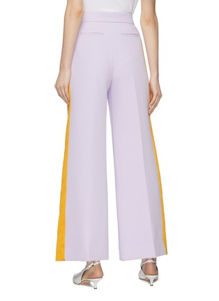 Back View - Click To Enlarge - ROKSANDA - 'Roma' stripe outseam bonded crepe wide leg pants
