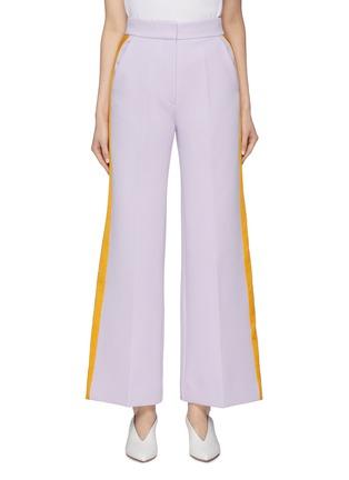 Main View - Click To Enlarge - ROKSANDA - 'Roma' stripe outseam bonded crepe wide leg pants