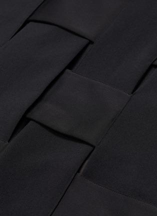 - THE KEIJI - Belted lattice back long gilet