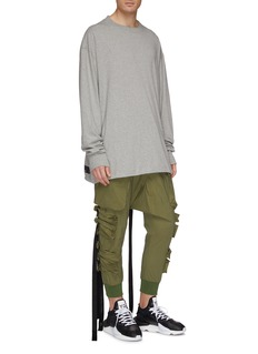 Ben Taverniti Unravel Project  Strap slim fit cargo jogging pants
