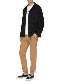 KURO Chest pocket hooded twill windbreaker jacket