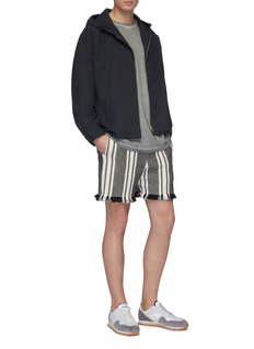 KURO Hooded boxy jacket
