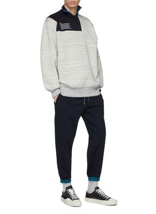 Figure View - Click To Enlarge - kolor - Contrast panel sweatshirt