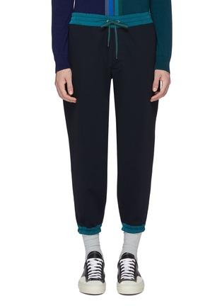 Main View - Click To Enlarge - kolor - Contrast border jogging pants