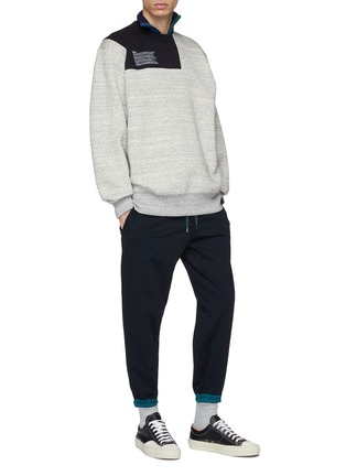 Figure View - Click To Enlarge - kolor - Contrast border jogging pants