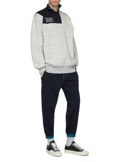 kolor Contrast border jogging pants