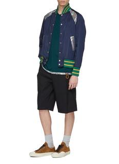 kolor Stripe border colourblock varsity jacket