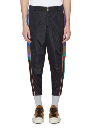 Main View - Click To Enlarge - kolor - Colourblock outseam track pants