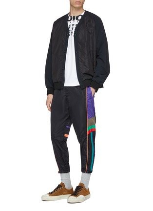 Figure View - Click To Enlarge - kolor - Colourblock outseam track pants