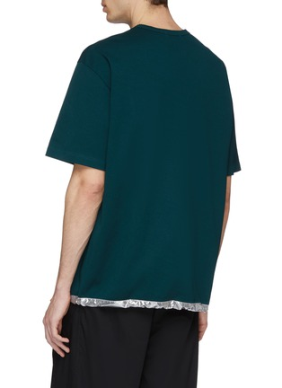 Back View - Click To Enlarge - kolor - Metallic drawcord hem T-shirt