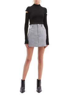 Dion Lee 'Binary' houndstooth check plaid mini skirt