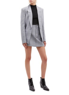 Dion Lee 'Binary' detachable panel houndstooth check plaid blazer