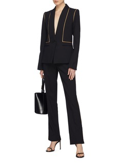 Dion Lee Petersham border single vent wool blazer