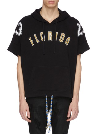 Main View - Click To Enlarge - FAITH CONNEXION - 'Florida' slogan number print short sleeve hoodie