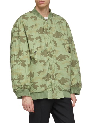 Detail View - Click To Enlarge - FAITH CONNEXION - Camouflage print reversible bomber jacket