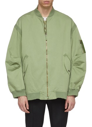 Main View - Click To Enlarge - FAITH CONNEXION - Camouflage print reversible bomber jacket